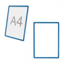 Рамка POS для ценников, рекламы и объявлений А4, синяя, без защитного экрана, 290250
