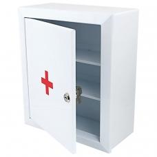 Шкафчик-аптечка металлический Призма, навесной, 2 полки, ключевой замок, 330x280x140 мм