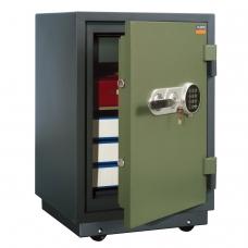Сейф огнестойкий VALBERG FRS-73T EL, 732х485х431 мм, 86 кг, эл. замок+ключ, трейзер, крепл. к полу