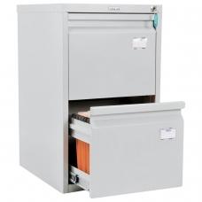 Шкаф картотечный ПРАКТИК A-42, 685х408х485 мм, 2 ящика для 84 подвесных папок, формат папок A4 БЕЗ ПАПОК