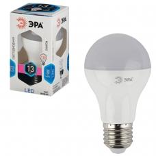 Лампа светодиодная ЭРА, 13 110 Вт, цоколь E27, грушевидная, холодный белый свет, 30000 ч., LED smdA65-13W-840-E27