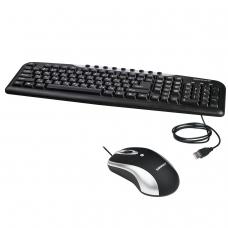 Набор проводной SONNEN KB-S110, USB, клавиатура 116 клавиш, мышь 3 кнопки, 1000 dpi, черный/серебристый, 511284