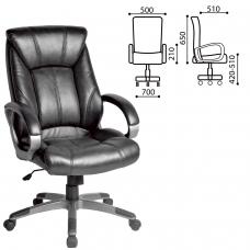 Кресло офисное BRABIX Maestro EX-506, экокожа, черное, 530877