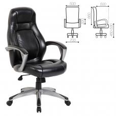 Кресло офисное BRABIX Turbo EX-569, экокожа, спортивный дизайн, черное, 531014