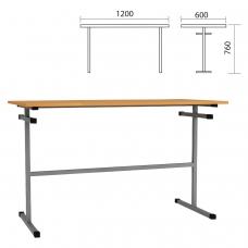 Стол для столовых 1200х600х760 мм, рост 6, серый каркас, ДСП/пластик, цвет бук