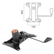 Механизм качания для кресла, Top-Gun, межцентровое расстояние крепежа 150х250 мм