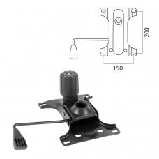 Механизм качания для кресла, Top-Gun, межцентровое расстояние крепежа 150х200 мм
