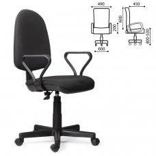 Кресло Prestige, с подлокотниками, черное