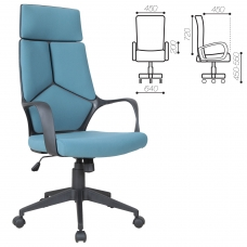 Кресло офисное BRABIX Prime EX-515, ткань, голубое, 531568