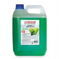 Мыло-крем жидкое ЛАЙМА PROFESSIONAL, 5 л, Яблоко, с антибактериальным эффектом, 600189