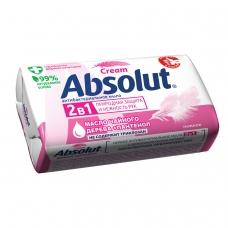 Мыло туалетное 90 г, ABSOLUT Абсолют Нежное, антибактериальное, 6001,6058