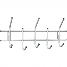 Вешалка настенная Стандарт 2/5, 280х600х110 мм, 5 крючков, металл, белая