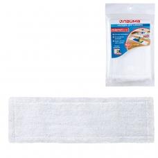 Насадка МОП плоская для швабры/держателя 40 см, карманы ТИП К, микрофибра, упаковка, ЛАЙМА, 601476