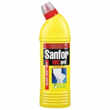 Средство для уборки туалета 750 г, SANFOR WC gel Санфор гель Лимонная свежесть, 1550