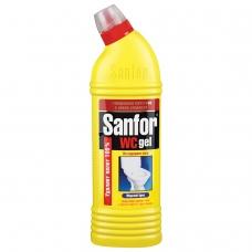 Средство для уборки туалета 750 г, SANFOR WC gel Санфор гель Морской бриз, 1549