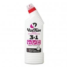 Средство для уборки туалета 750 г, ЧИСТИН 3 в 1, содержит активный хлор, 2795
