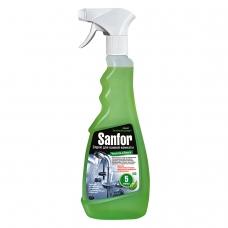 Средство для чистки ванн и душевых 500 г, SANFOR Санфор, распылитель, 3016