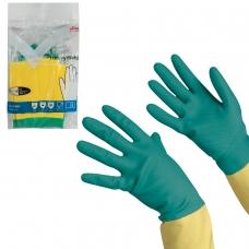 Перчатки хозяйственные латексные VILEDA с х/б напылением, особо прочные неопрен, размер XL очень большой, 120270