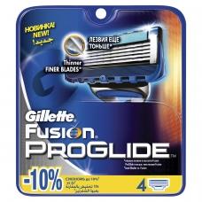 Сменные кассеты для бритья 4 шт., GILLETTE Жиллет Fusion ProGlide, для мужчин