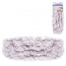 Насадка МОП плоская для швабры/держателя 40 см, карманы ТИП К, хлопок ворс 4,5 см, ЛАЙМА, 603115