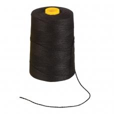 Нить лавсановая для прошивки документов BRAUBERG, диаметр 1,5 мм, длина 500 м, черная, ЛШ 460ч, 603772