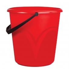 Ведро 8 л, без крышки, пластиковое, пищевое, с глянцевым узором, цвет красный, мерная шкала, ЛАЙМА, ЦВП-8
