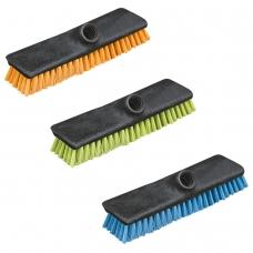 Щетка для уборки скраббер, ширина 24 см, щетина 2,5 см, пластик, еврорезьба, YORK Centi Twigi, 43020
