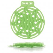 Коврики-вставки для писсуара, ЭКОС POWER-SCREEN, на 30 дней каждый, комплект 2 шт., аромат Яблоко, цвет салатовый, PWR-2G