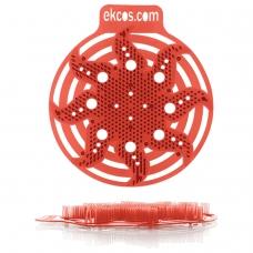 Коврики-вставки для писсуара, ЭКОС POWER-SCREEN, на 30 дней каждый, комплект 2 шт., аромат Дыня, цвет красный, PWR-10R