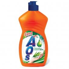 Средство для мытья посуды 450 мл, AOS Бальзам Алоэ Вера, 1112-3