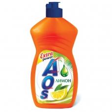 Средство для мытья посуды 450 мл, AOS Лимон, 1118-3