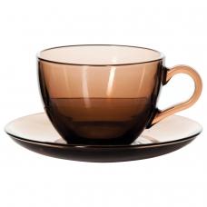 Набор чайный, на 6 персон 6 чашек объемом 238 мл, 6 блюдец, тонированное стекло, PASABAHCE, 97948УБ