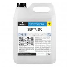 Средство дезинфицирующее 5 л, PRO-BRITE SEPTA 200, щелочное, низкопенное, концентрат, 191-5