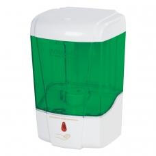 Диспенсер для жидкого мыла ЛАЙМА, НАЛИВНОЙ, сенсорный, прозрачный, 0,6 л, 605391