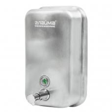 Диспенсер для жидкого мыла ЛАЙМА PROFESSIONAL, 1 л, нержавеющая сталь, матовый, 605395