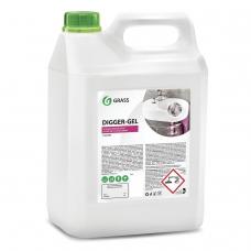 Средство для прочистки канализационных труб 5,3 кг GRASS DIGGER-GEL, гель, щелочное, 125206