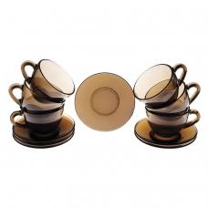 Набор чайный на 6 персон, 6 чашек объемом 220 мл и 6 блюдец, Simply Eclipse, LUMINARC, J1261