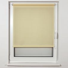 Штора рулонная светопроницаемая BRABIX 40х175 см, текстура Лён, кремовый, 605968
