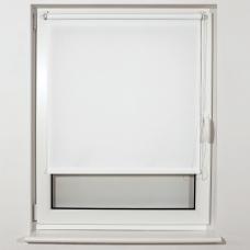 Штора рулонная светопроницаемая BRABIX 40х175 см, текстура Лён, белый, 605970
