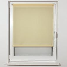 Штора рулонная светопроницаемая BRABIX 55х175 см, текстура Лён, кремовый, 605978