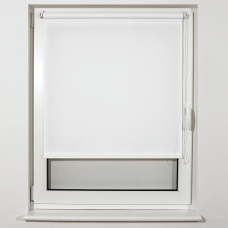 Штора рулонная светопроницаемая BRABIX 60х175 см, текстура Лён, белый, 605985