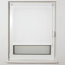 Штора рулонная светопроницаемая BRABIX 80х175 см, текстура Лён, белый, 605995