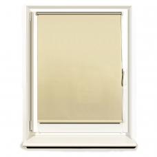 Штора рулонная светонепроницаемая Блэкаут BRABIX 100х175 см, кремовый/серебро, 606016