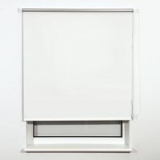 Штора рулонная светонепроницаемая Блэкаут BRABIX 160х175 см, белый/серебро, 606021