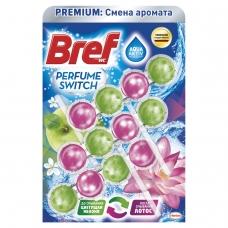 Освежитель WC для туалета твердый 3х50 г BREF Бреф Perfume Switch, Яблоня-лотос, 2336888