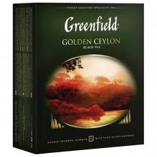 Чай GREENFIELD Гринфилд Golden Ceylon, черный, 100 пакетиков в конвертах по 2 г, 0581