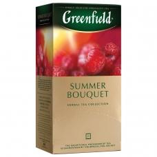 Чай GREENFIELD Гринфилд Summer Bouquet, фруктовый малина, шиповник, 25 пакетиков в конвертах по 1,5 г, 0433