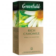 Чай GREENFIELD Гринфилд Rich Camomile Ромашковый, травяной, 25 пакетиков в конвертах по 1,5 г, 0432-10