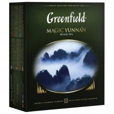 Чай GREENFIELD Гринфилд Magic Yunnan Волшебный Юньнань, черный, 100 пакетиков в конвертах по 2 г, 0583-09