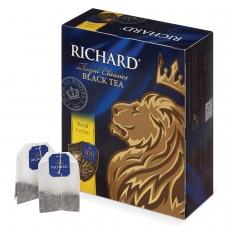 Чай RICHARD Ричард Royal Ceylon Роял Цейлон, черный, 100 пакетиков по 2 г, 610601